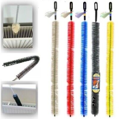 Radiator Cleaning Brush Flexible Bristle Duster Long Reach Cobweb Cover Cleaner