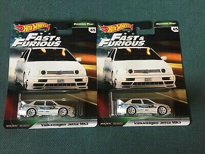 Hot Wheels FAST AND FURIOUS ORIGINAL FAST 2019 WHITE VW JETTA MK3 *LOT OF 2* NEW