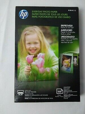 """HP Everyday Glossy Photo Paper CR759A 100 Sheets 4"""" X 6"""""""
