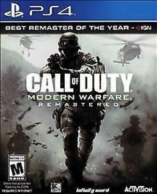 Call of Duty 4 Modern Warfare Remastered USED SEALED Sony PlayStation 4 2017 PS4