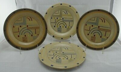 """Frank Lloyd Wright """"Style""""4 Piece Set Of Plates Signed Prairie - New Old Stock"""