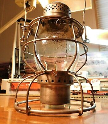"Union Pacific Railroad Lantern Handlan St Louis ""The Overland Route"" 1909"