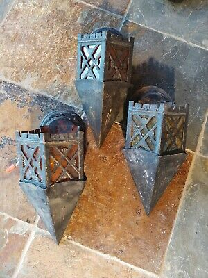 3 Arts & Crafts mission sconces,antique,fixture,lamp #5