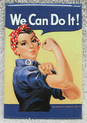 Rosie The Riveter - We Can Do It! Magnet, New!