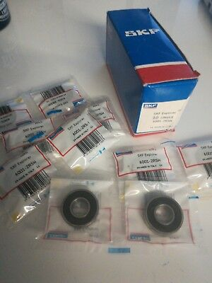 10qty 6001-2RSH SKF Sealed Deep Groove Ball Bearing 12x28x8mm
