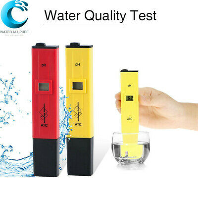 Digital LCD PH ATC Meter Tester Hydroponic Pool Water Aquarium Pocket Pen Tester