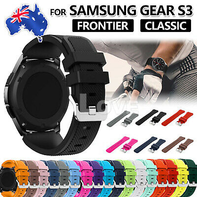 Sport Premium Silicone Strap Band For Samsung Gear S3 Frontier / Classic 22mm