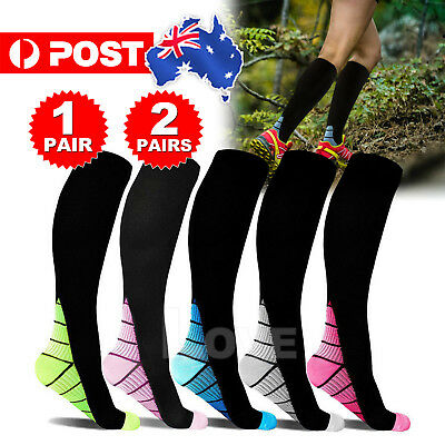 15-30mmHg Medical Compression Socks Support Stockings Travel Flight Socks 2019