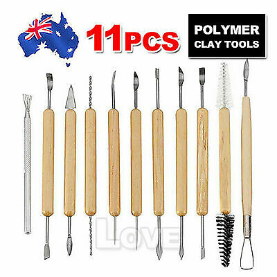 11x Carvers Clay Sculpting Carving Pottery Tools Polymer Modelling DIY Sculpture
