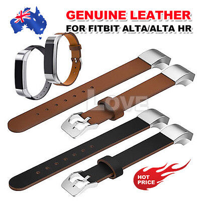 Genuine Leather Replacement Wrist Watch Bracelet Band Strap For Fitbit Alta HR