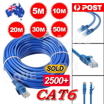 5m 10m  20m 30m 50m Ethernet Network Lan Cable CAT6 1000Mbps