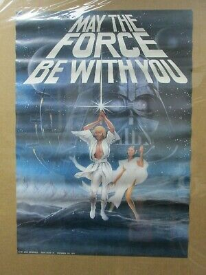 Vintage Poster Star Wars May the force be with you 1977 Inv#G4577