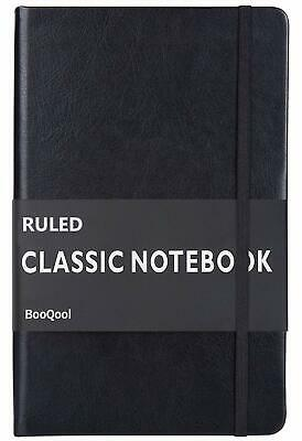 Ruled Notebook/Journal–Premium Thick Paper Faux Leather Classic Writing Notebook