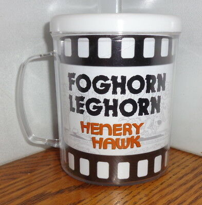 FOGHORN LEGHORN HENERY HAWK  PLASTIC CUP. 8 oz. LOONEY TUNES CARTOONS..FREE SHIP