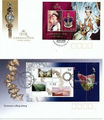 Australian Stamps  Mini Sheets on Paper (2 scans) Used/bulk