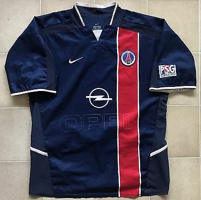 new arrival ed146 c86a6 AUTHENTIC NIKE PSG Paris Saint-Germain 02/03 Home Jersey. Mens M, Fair Cond.