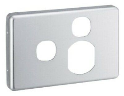 Clipsal C2000 COVER For Horizontal Single Socket With Extra Switch ALUMINIUM
