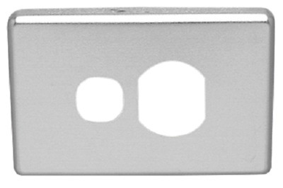 Clipsal C2000 METAL COVER Horizontal For Single Switched Socket ALUMINIUM
