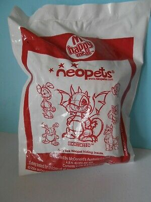 2004 McDonald's Happy Meal Neopets Scorchio New in Sealed and Non-See In Packet