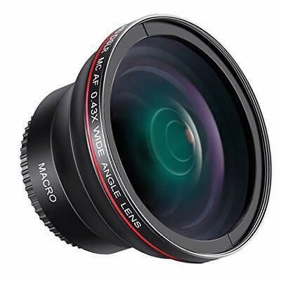 *Neewer 58mm 0.43x HD fisheye wide angle lens macro close-up part with