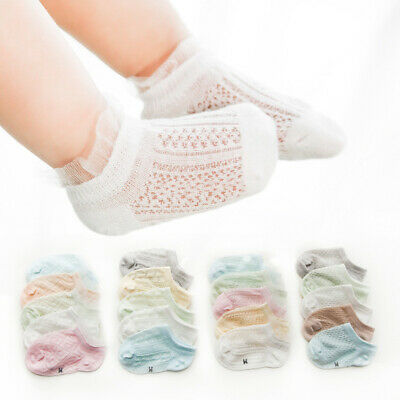 Baby Kids Summer Sock Thin Section Combed Cotton Mesh Breathable Lace Boat Socks