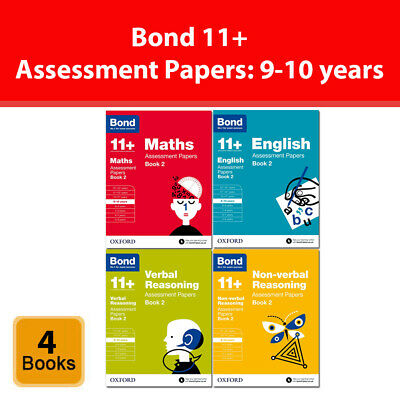 Bond 11+ Maths English Non-verbal Reasoning Assessment Papers Book 2: 9-10 years