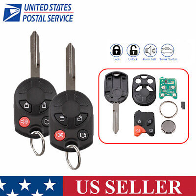 2 For 2008 2009 2010 2011 2012 2013 2014 Ford Taurus Remote Key Fob OUCD6000022