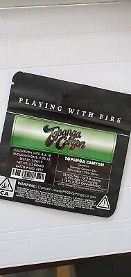 1x Jungle Boys Topanga Canyon Mylar Bag (3.5g) Cali Tin