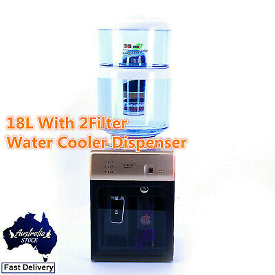 18L 2Filter Water Cooler Dispenser Pure Hot Cold Awesome Taste Floor Stand New