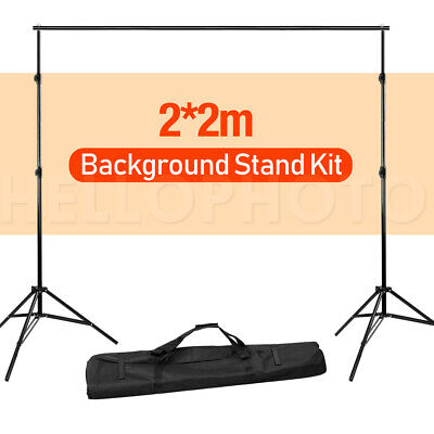 Photography Studio 2x2M Heavy Duty Backdrop Stand Kit Background Support Stand