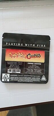 1x Jungle Boys Cherry Cookies Mylar Bag (3.5g) Cali Tin