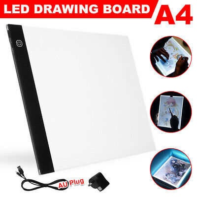 A4 LED Art Stencil Board Light Tracing Drawing Ultra Thin 3 Brightness Level TW