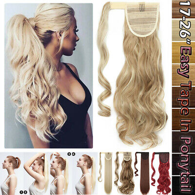 Blonde + Clip in Ponytail Hair Extensions One Piece As Natural Human Curly Brown