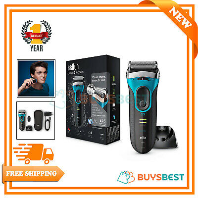 Braun Series 3 Wet and Dry Mens Electric Rechargeable Foil Shaver Razor - 3080s