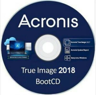 Acronis True Image 2018 Bootable CD Clone Backup Restore Drive SSD for PC Laptop