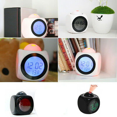 Digital Alarm Clock Multifunction With Voice Call LED Projection Temperature