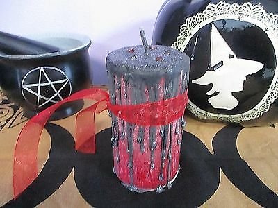 7 PC  CHAKRA Candle Set W/Color & Meaning Chart - Wicca Pagan Occult