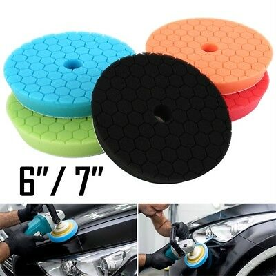 "5 Pack 6/7"" Polishing Sponge Waxing Buffing Pads Compound Auto Car Polisher NEW"