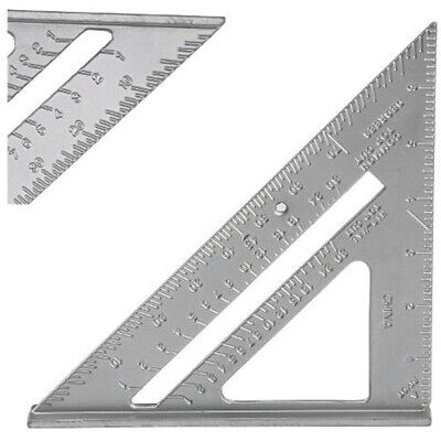 Light 7'' Metric Aluminum Alloy Speed Square Quick Roofing Rafter Triangle Ruler