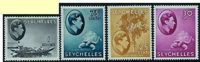 SEYCHELLES 1937-1952 GVI Collection hinged mint complete - 8888