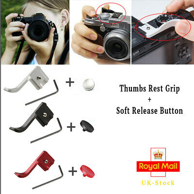 3 colours Metal Thumb rest hand Grip + Shutter Release Button for fuji Fujifilm