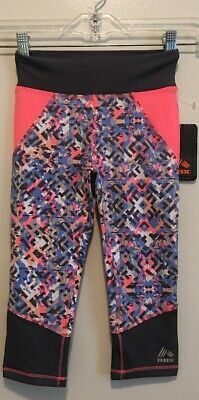 New! Girls RBX Performance Athletic Tights Size M (5/6) Multicolor