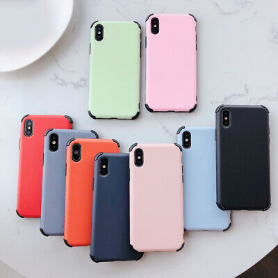 Luxury Shockproof Candy Color Soft Silicone Back Case Cover For Smart Cellphones