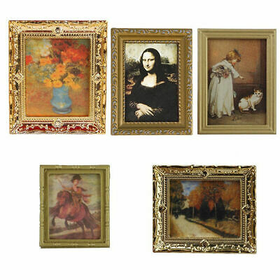 New 1:12 Dollhouse Miniature Framed Wall Painting Home Decor Room Items  New. Be