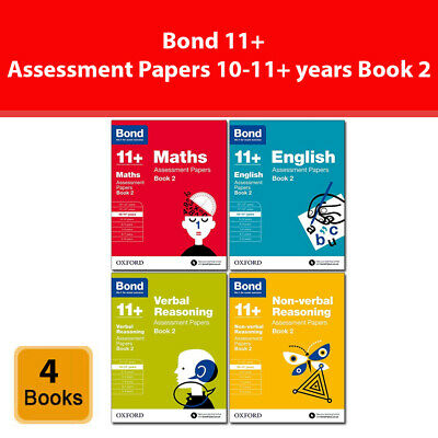 Bond 11+ Assessment Papers Book 2, 10-11+ years Bundle English, Maths, Verbal