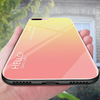 Luxury Phone Case For iPhone XS XR Max 6 7 Plus 8 Slim Tempered Glass Back Cover