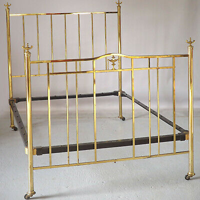 Antique Brass Double Bed 1920s (delivery £60)