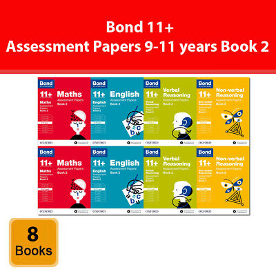 Bond 11+: Assessment Papers Book 2 Year 9-11 Bundle 8 Books Collection Set Maths
