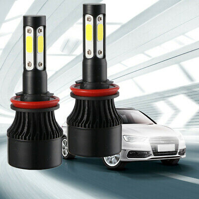 4-Sides H11 H8 H9 LED Headlight Light Bulbs Replace HID Halogen 1700W 255000LM