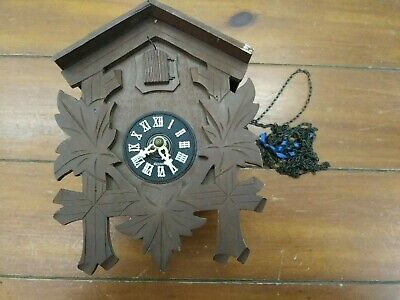 Vintage German Cuckoo Clock for Parts Repairs Made in Germany Chains